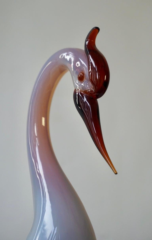 Italian Mid-Century Modern Murano Glass Bird Sculpture For Sale 1