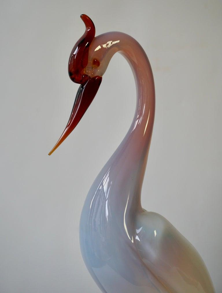 Italian Mid-Century Modern Murano Glass Bird Sculpture For Sale 2