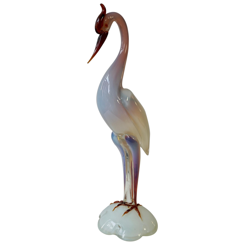 Italian Mid-Century Modern Murano Glass Bird Sculpture
