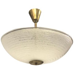 Italian Mid-Century Modern Murano Glass Flush Mount Pendant, Barovier e Toso