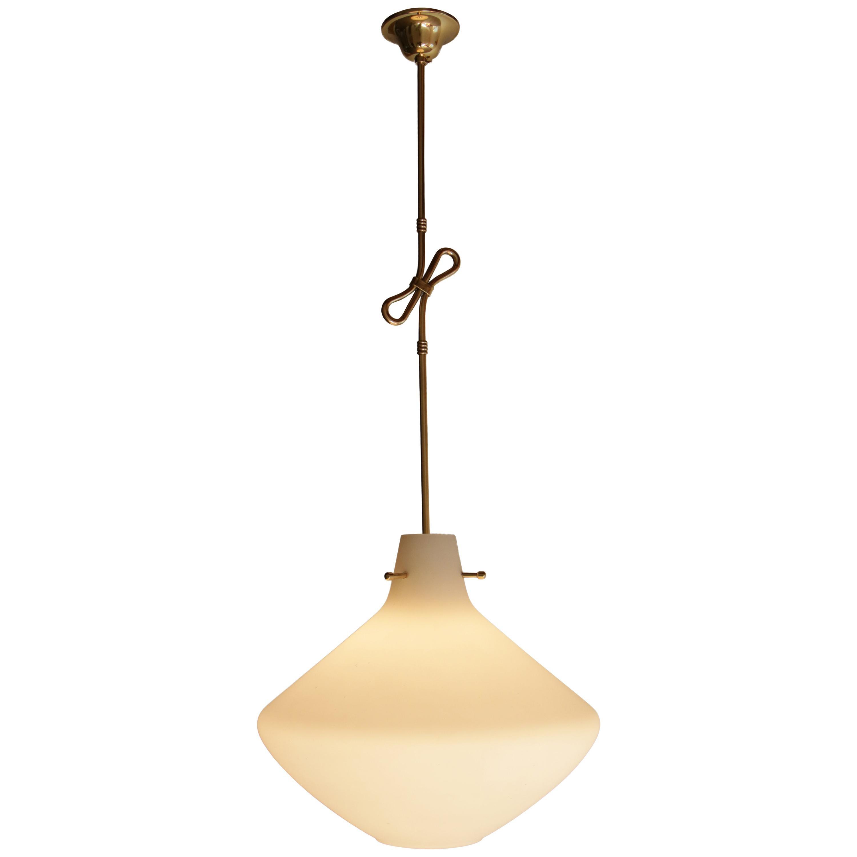 Italian Mid-Century Modern Pendant Lamp Attributed to Stilnovo, 1950s