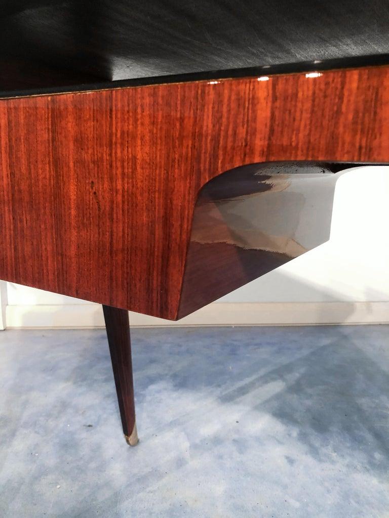 Italian Mid-Century Modern Petite Desk in Teak Designed by Vittorio Dassi, 1950s For Sale 9