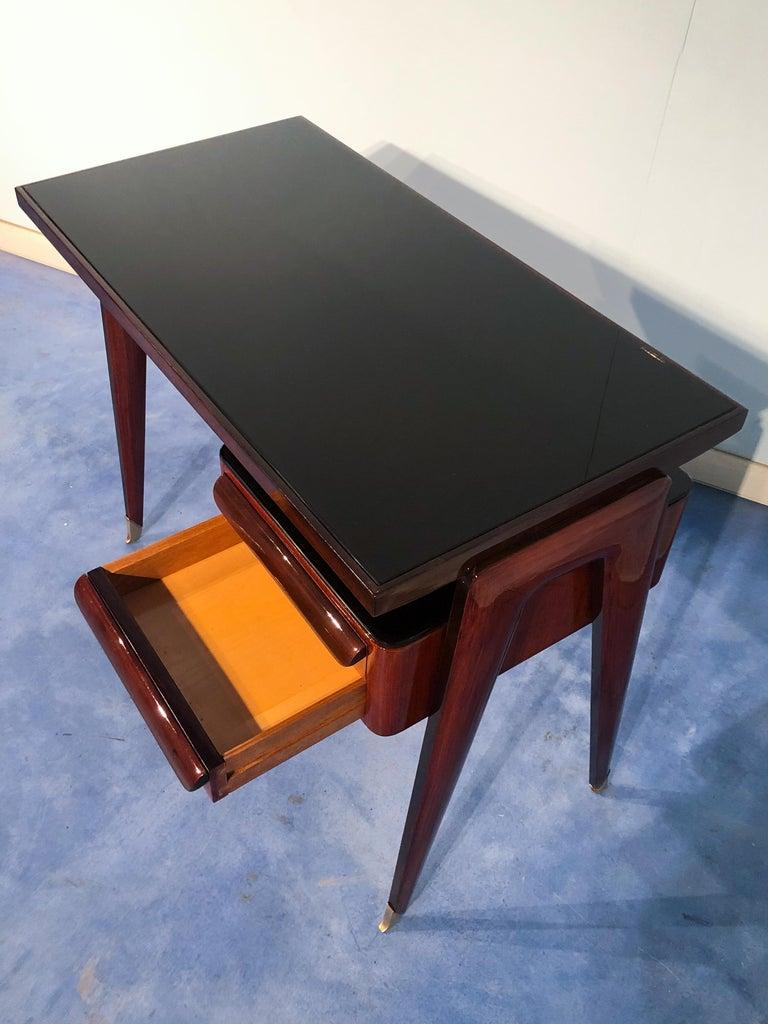 Italian Mid-Century Modern Petite Desk in Teak Designed by Vittorio Dassi, 1950s For Sale 14