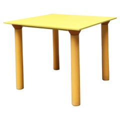 Italian Mid-Century Modern Plastic Yellow Table by Kartell, 1970s