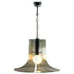 Italian Mid-Century Modern Plexs Glass Pendant/Suspension Fixture