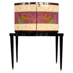 Italian Mid-Century Modern Rosewood Cabinet Bar, 1950s