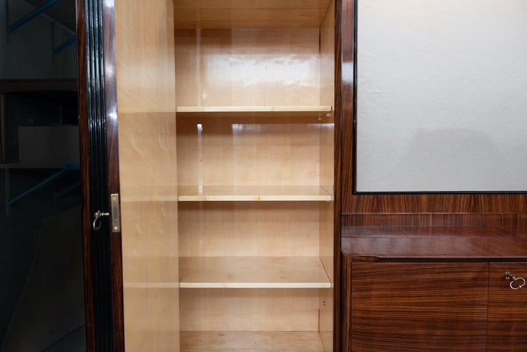 Italian Mid-Century Modern Rosewood Large Bookcase with Storage For Sale 10