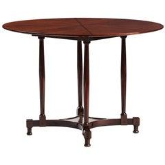 Italian Mid-Century Modern Round Dining Table