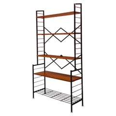 Italian Mid-Century Modern Self-Supporting String Bookcase with Brass, 1960s