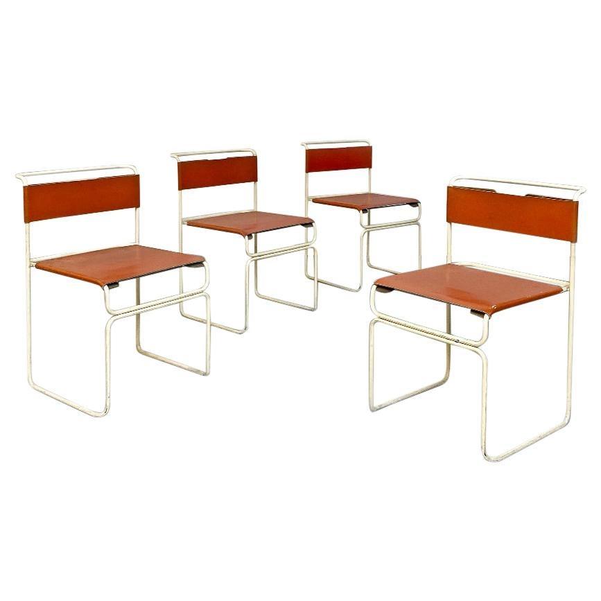 Italian Mid-Century Modern Set of 4 Libellula Chairs G.Carini for Planula 1970