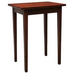 Italian Mid-Century Modern Small Wood Table with Rectangular Top, 1950s