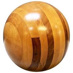 Italian Mid-Century Modern Solid Wood Decorative Sphere by Pino Pedano, 1960s