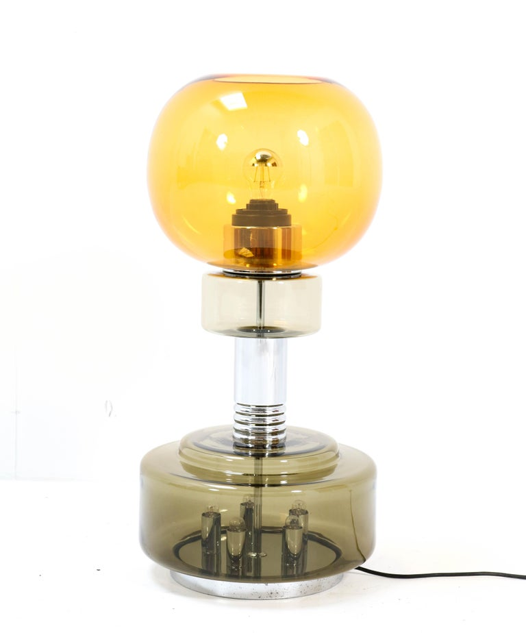 Italian Mid-Century Modern Table Lamp or Floor Lamp in the style of Sciolari For Sale 3