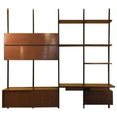 Italian Mid-Century Modern Wall Bookcase E22 by Osvaldo Borsani for Tecno, 1960s