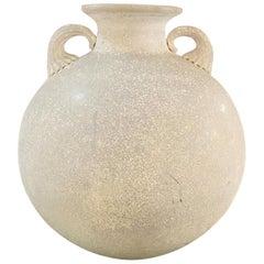 Italian Mid-Century Modern White Amphora with Handles by Sergio Asti, 1960s