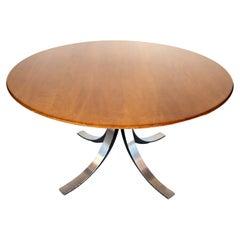 Italian Mid-Century Modern Wooden, Brown Lounge Table by Osvaldo Borsani, 1960s