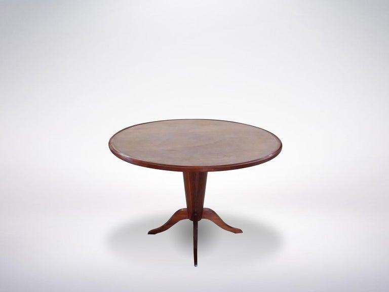 Elegant round table, Italy, 1950s.