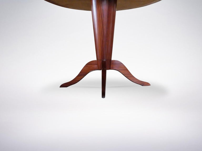 Italian Mid-Century Modern Wooden Round Table, 1950s In Good Condition In Milan, IT