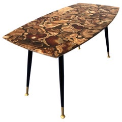 Italian Midcentury Mosaic Marble Coffee Table, 1950