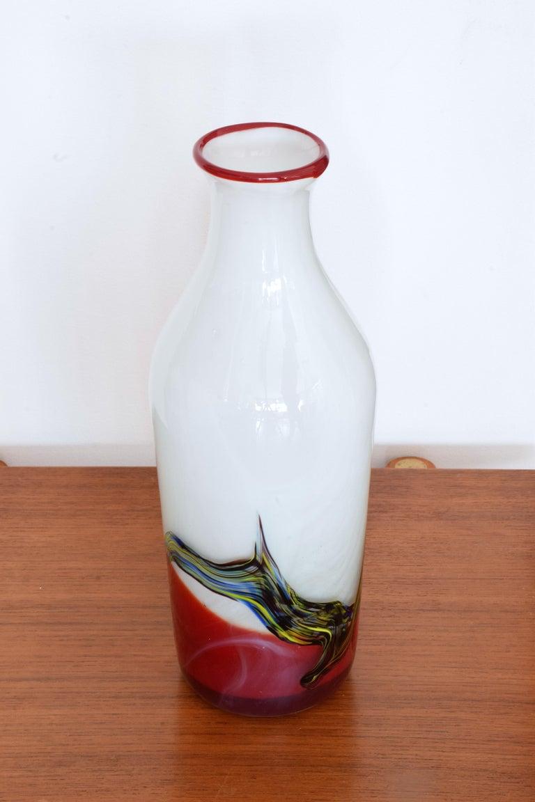 Mid-Century Modern Italian Midcentury Murano Vase, 1970s For Sale