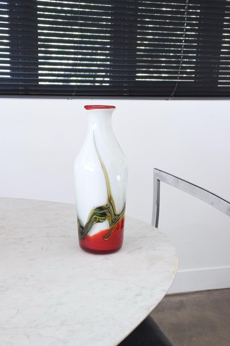 Murano Glass Italian Midcentury Murano Vase, 1970s For Sale