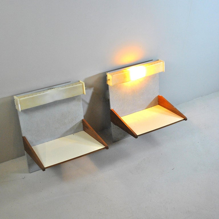 Plexiglass Italian Midcentury Nightstands from the 1960s For Sale