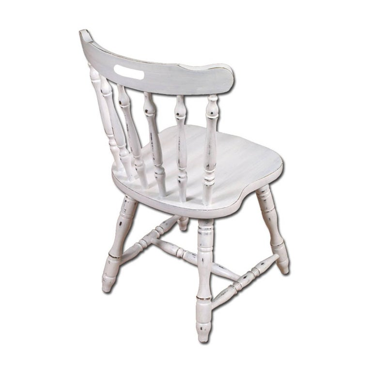 Italian Italy Dining Chairs & Table, Old America, country , White color painted For Sale