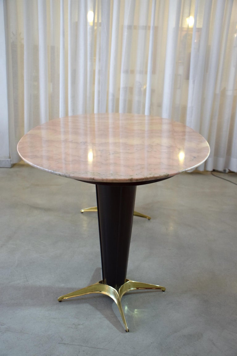 Italian Midcentury Oval Marble Dining Table, 1950s For Sale 4