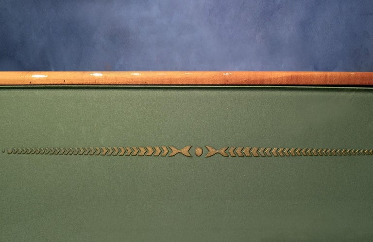 Italian Midcentury Parchment Sideboard by Giovanni Gariboldi, 1950s For Sale 7