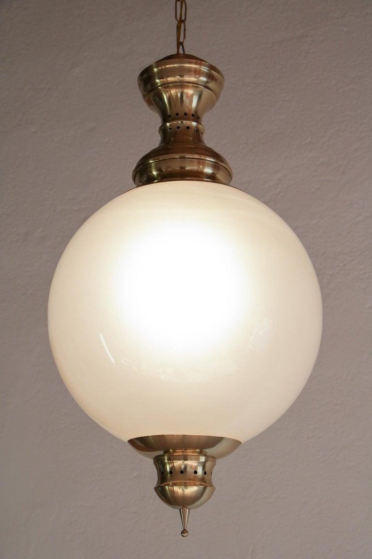 Italian Mid-Century Pendant Lamp by Luigi Caccia Dominioni Model LS1, 1950s In Good Condition For Sale In Traversetolo, IT