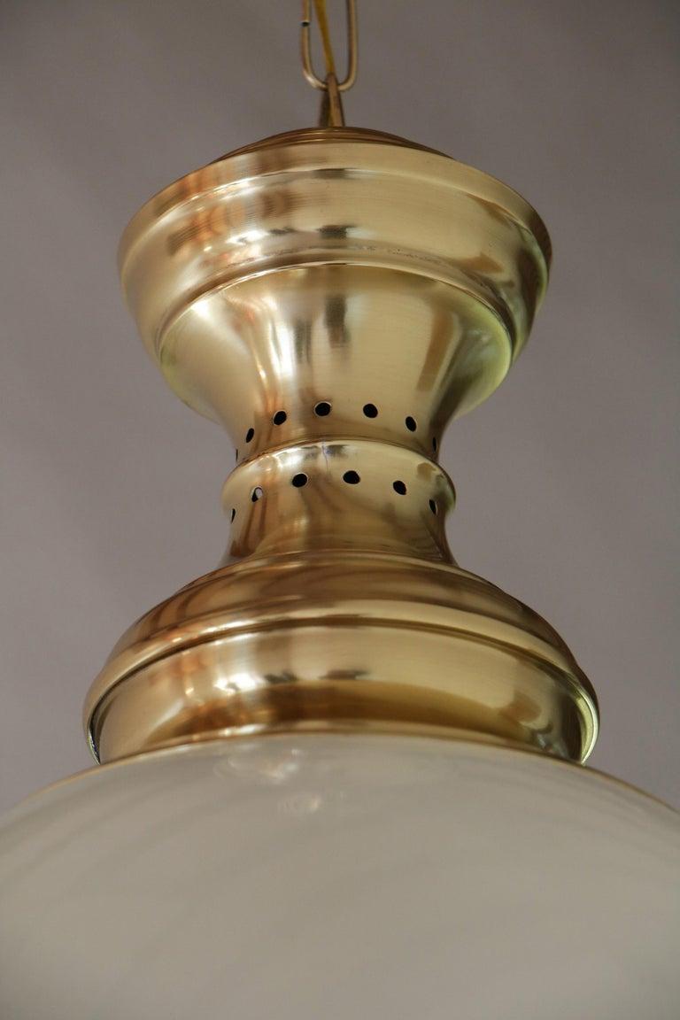 Mid-20th Century Italian Mid-Century Pendant Lamp by Luigi Caccia Dominioni Model LS1, 1950s For Sale