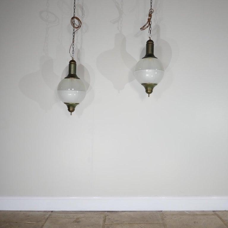Italian Midcentury Pendant Lights For Sale 1