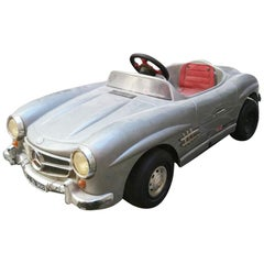 Italian Mid-Century Plastic and Chrome Toy Car Mercedes-Benz SL, 1960s