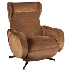 Italian Midcentury Reclinable Lounge Chair or Armchair, 1950