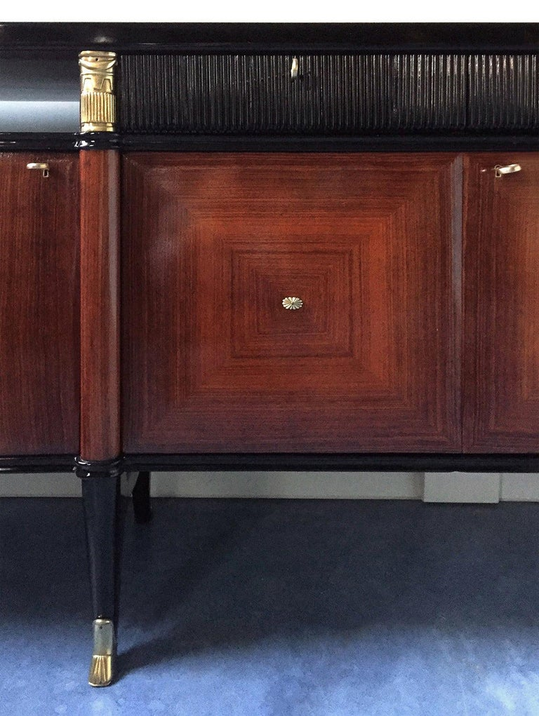 Italian Midcentury Rosewood Buffet or Sideboard by Paolo Buffa, 1950s For Sale 10