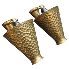 Italian Midcentury Sconces Totally in Brass