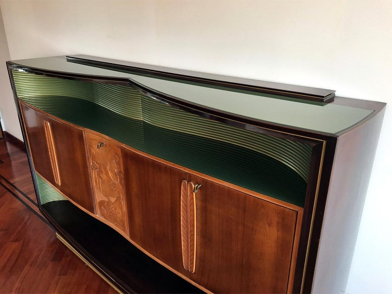 Italian Mid-Century Sideboard Art Déco style by Vittorio Dassi, 1950s For Sale 6