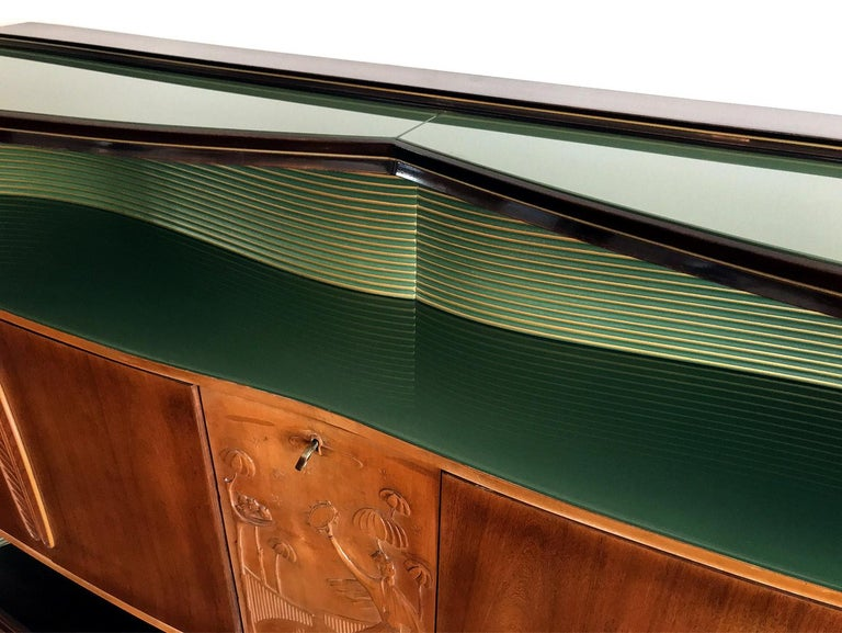 Italian Mid-Century Sideboard Art Déco style by Vittorio Dassi, 1950s For Sale 7