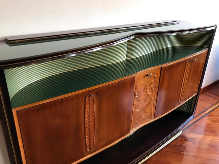 Italian Mid-Century Sideboard Art Déco style by Vittorio Dassi, 1950s For Sale 8