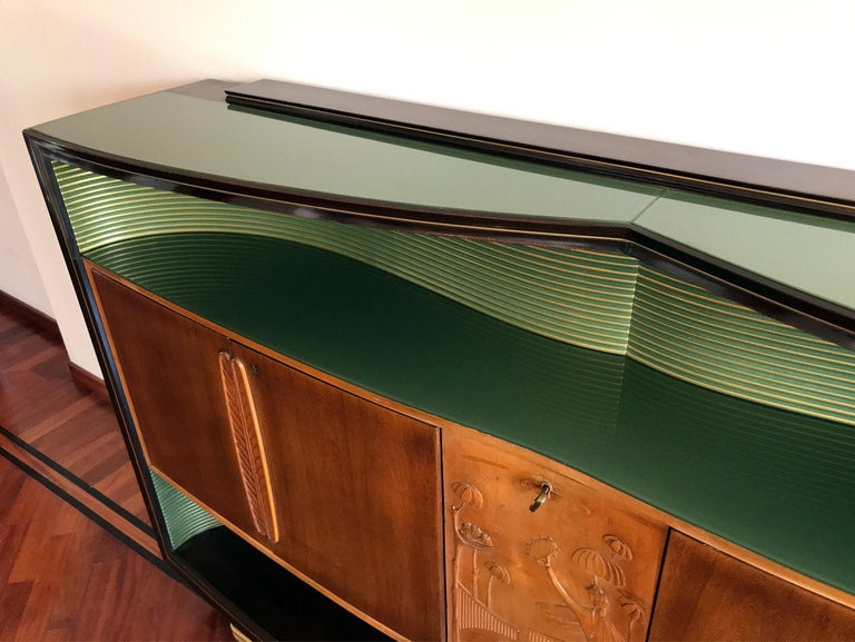 Italian Mid-Century Sideboard Art Déco style by Vittorio Dassi, 1950s For Sale 9