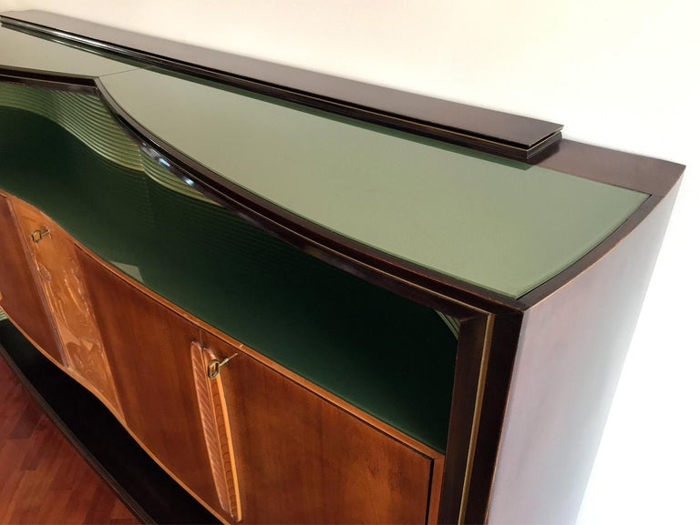 Italian Mid-Century Sideboard Art Déco style by Vittorio Dassi, 1950s For Sale 10