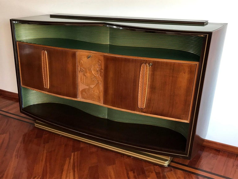 Italian Mid-Century Sideboard Art Déco style by Vittorio Dassi, 1950s For Sale 2