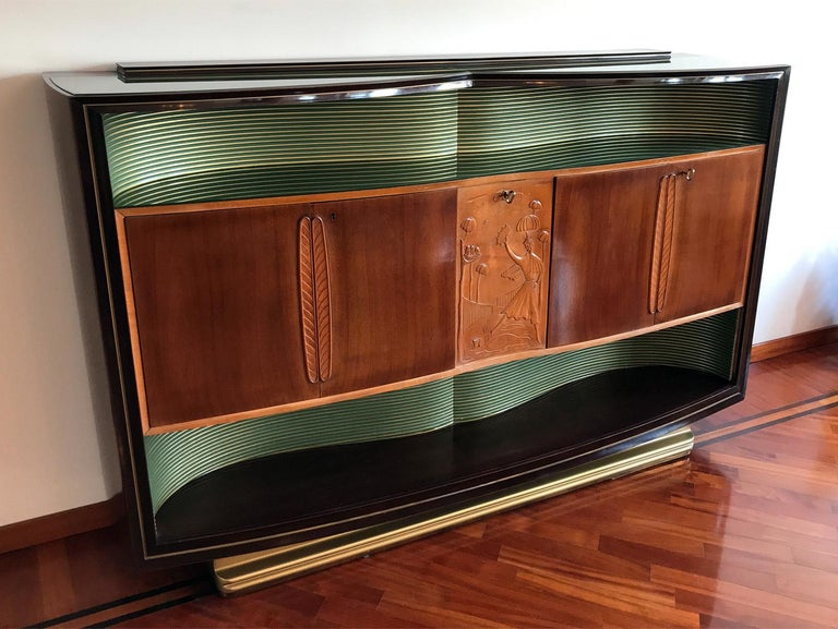 Italian Mid-Century Sideboard Art Déco style by Vittorio Dassi, 1950s For Sale 3