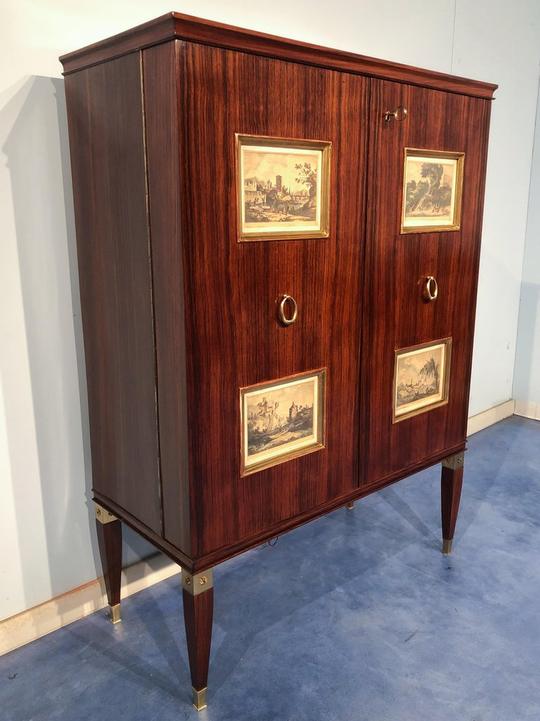 Mid-20th Century Italian Mid-Century Sideboard or Bar Cabinet by Paolo Buffa, 1950s For Sale