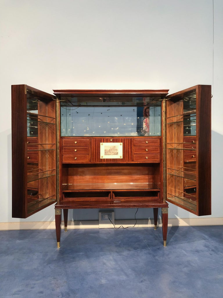 Italian Mid-Century Sideboard or Bar Cabinet by Paolo Buffa, 1950s For Sale 3
