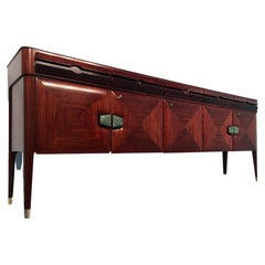 Italian Mid-Century Sideboard with Marble Handles by Vittorio Dassi, 1950