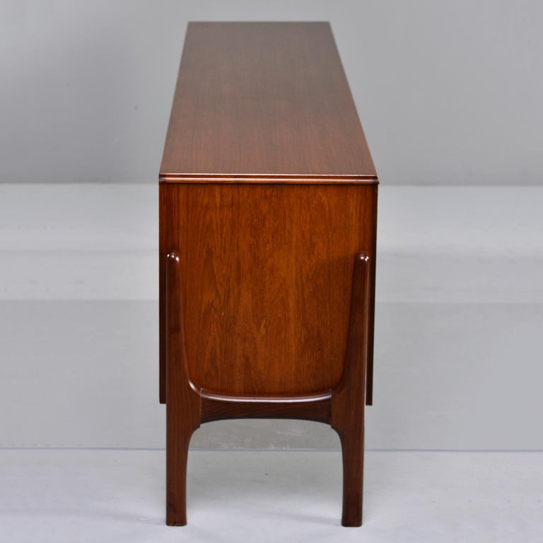 Italian Midcentury Sideboard With Multi Woods and Sliding Doors In Good Condition For Sale In Troy, MI