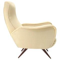 Italian mid-century silk armchair, 1950s