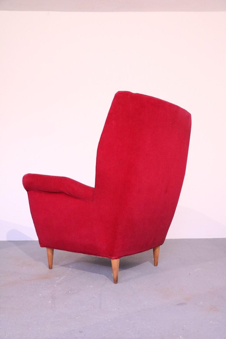 Italian Midcentury Sofa and Pair of Lounge Chairs by Gio Ponti for ISA, 1955 For Sale 1