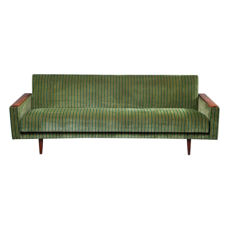 Midcentury Studio Sofa With Wood Legs